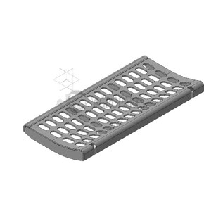 Pre-concave Segment 19x40 for Claas combine harvester. OEM 7574411 , CL-757-441R, Claas combine parts