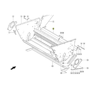7849633 Cover plate fits Claas Lexion