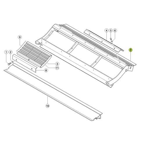 7772022 Pre-concave frame fits Claas Lexion CL-777-202R