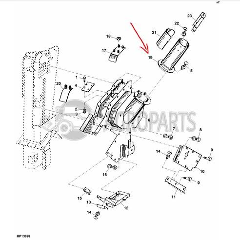 Upper clean grain loader auger housing. OEM AH135445