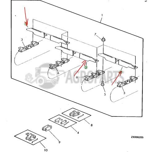 Feeder conveyor slat. OEM Z62287