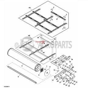 Feeder conveyor slat. OEM H206436
