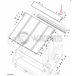 Feedr house floor sheet. OEM AZ100575