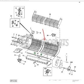Concave (14 Cross Bars). OEM AH136605