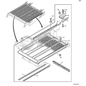 Sieve element adjustable. OEM AH172954