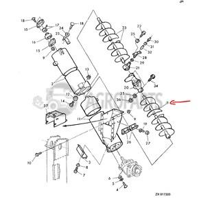 AZ52889 Filling tube auger fits John Deere JD-AZ52889R