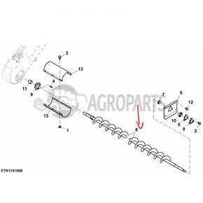 Lower tailings auger. OEM AZ63274