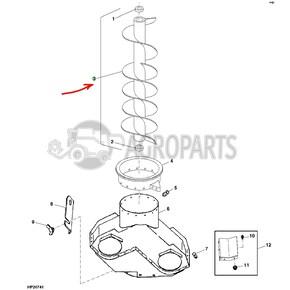 Vertical unloading auger regular. OEM AH124852
