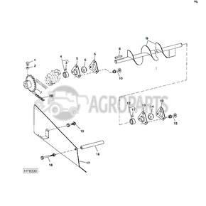 Upper tailings auger. OEM AH125895