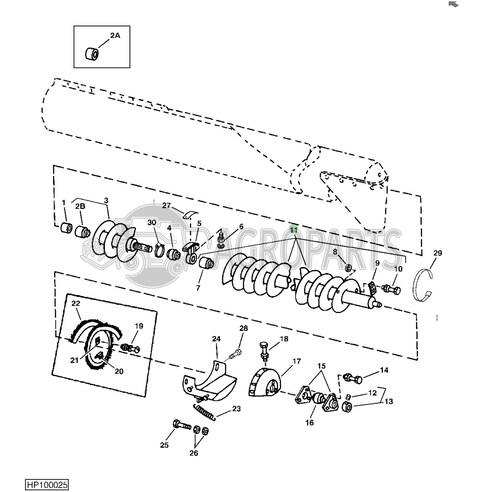 AH143727 Horizontal unloading auger fits John Deere JD-AH143727R