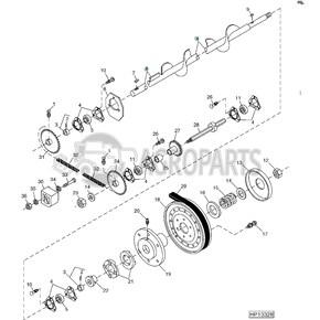 Lower tailings auger. OEM AH146322