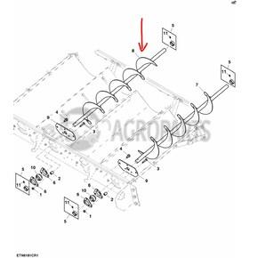 Conveyor auger. OEM AH146787
