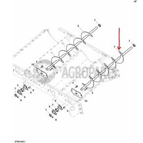 AH168284 Conveyor auger LH fits John Deere JD-AH168284R