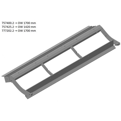 Pre-concave frame for Claas combine harvester. OEM 7574252 , CL-757-425R, Claas combine parts