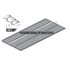 7564470 Upper sieve PW4 (25×28 mm, special) fits Claas Lexion