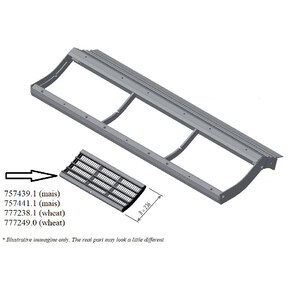 Pre-concave segment 19x40. OEM 7574391