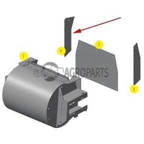 Right-Side wear plate of Gear Case. OEM  0763922