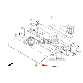6304281 Feed plate / Upper guide plate / deflector (stone trap) fits Claas Lexion CL-630-428R