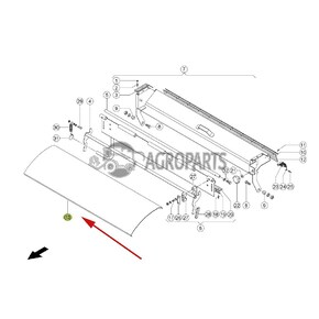 Feed plate / Upper guide plate / deflector (stone trap). OEM  6306630