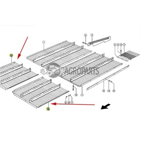 7394821 Step plate extention (Intermediate floor) fits Claas Lexion