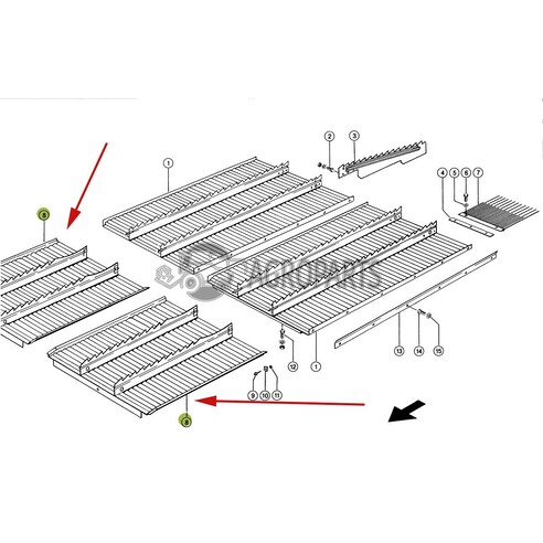 Step plate extention (Intermediate floor). OEM 7394821