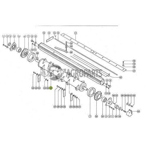 7413611 Knife drum fits Claas Lexion CL-741-361R