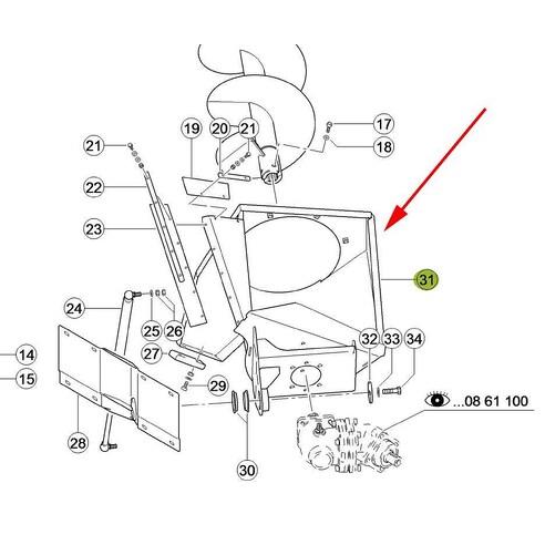 7952044 Filler head fits Claas Lexion CL-795-204R