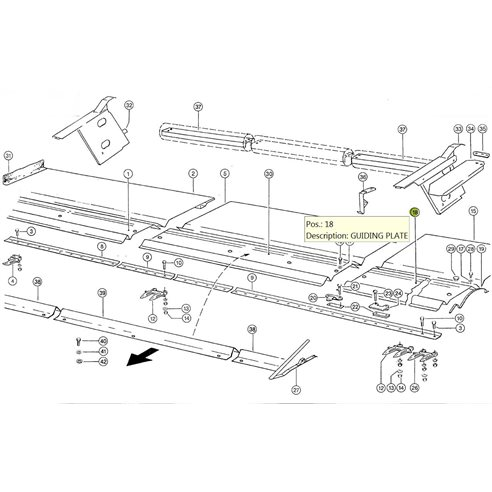 5171211 Guiding plate LH fits Claas