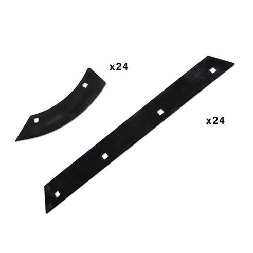 7776370 (SET w/Bolts) Discharge beater wear plates fits Claas Lexion